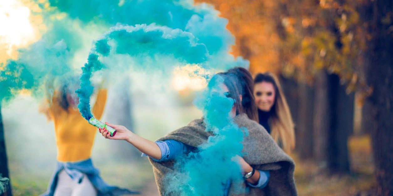 Gender Reveal Color Smoke | The Fireworks Lady